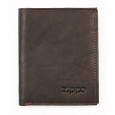 Vertikāls ādas maks Zippo